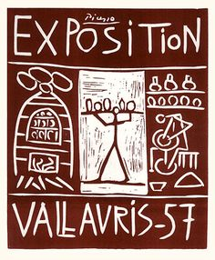 Picasso, Pablo - MP. 85 - Exposition Vallauris 57