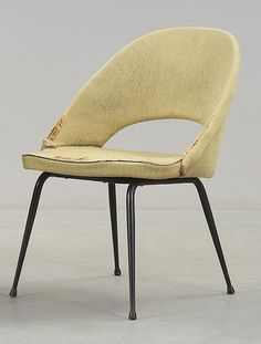 Eero Saarinen; Enameled Metal Side Chair, 1950s.