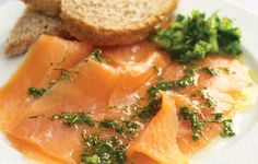 Smoked Salmon with Mustard and Dill Dressing