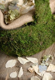 9.00 SALE PRICE! Add a natural touch to your eco-friendly wedding with this moss covered basket. Use as a centerpiece or flower girl basket. For an adorable ...