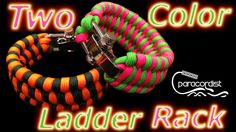 Check out this follow-up to my most popular YouTube video of all time – 1.2 million views in growing! Learn to tie the two color ladder rack Paracord bracelet #Paracord #Paracordist