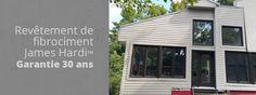 Revêtement extérieur québec Construction, Entrepreneur, Garage Doors, Outdoor Decor, Red, Building, Carriage Doors