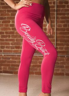 Hot Pink Bendy Bitch Fleece Leggings