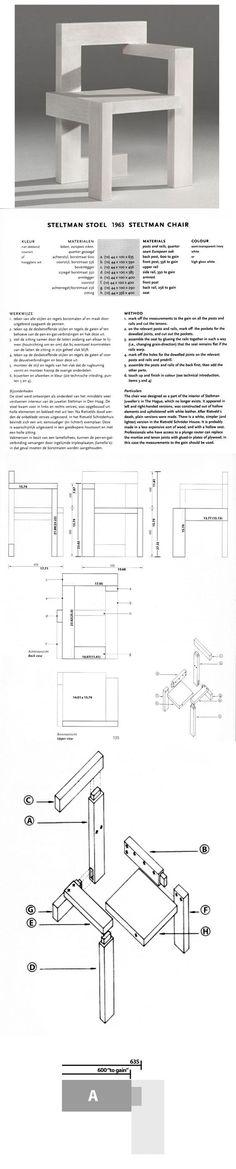 steltman_schematics.jpg (1280×1600)   Product Design ... Gerrit Rietveld Chair Plans