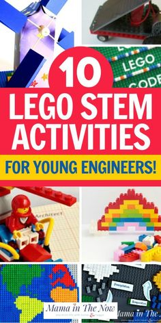 These STEM activities are so fun for kids to do! Teach your kids math, do science projects, and learn engineering with Lego. These great Stem activities are perfect for young engineers. Teach your kids will Legos instead. #stem #lego #engineering #kids #kidsactivities #learning Kids Learning Activities, Writing Activities, Educational Activities, Fun Learning, Toddler Activities, Preschool Activities, Teaching Kids, Cognitive Activities, Motor Activities