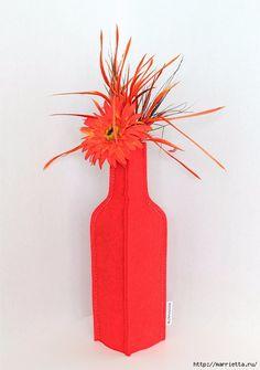 Войлочные вазы для цветов - чехлы на бутылки (7) (491x700, 190Kb)