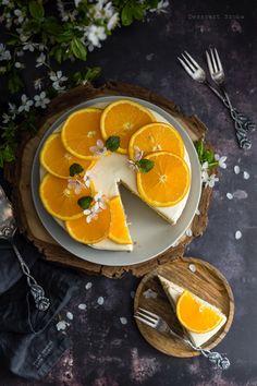 Narancskrémes torta - DESSZERT SZOBA Thai Red Curry, Ethnic Recipes, Food, Essen, Meals, Yemek, Eten