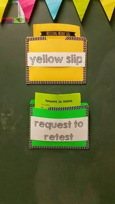 Tales of a High School Math Teacher: Classroom Set-Up. Yellow late slip attached to late work.