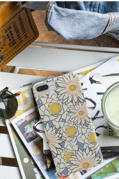 It's an iced matcha latte kind of day 🍵💮 // Phone case for iPhone or Samsung. Phone Covers, Matcha, Lotus, Iphone Cases, Samsung, Floral, Flowers, Mobile Covers, Lotus Flower