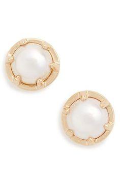 acf6b5dc7 'Celestine' Pearl Stud Earrings Pearl Stud Earrings, Pearl Jewelry, Pearl  Studs,