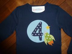 """Birthday shirt years"""", with name on request - Kindermode 2020 Baby Applique, Birthday Shirts, Birthday Kids, Baby Sewing, Kind Mode, 4 Years, Kids And Parenting, Stencils, Kindergarten"""