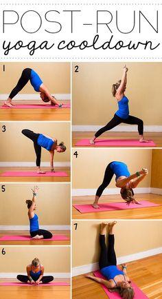 Post run yoga cool down