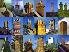 Up in Smoke? Many domestic houses built nowadays don't have any chimneys. How unfortunate… uniform looks and lack of individual character do not please the eye! These are just a few of many I have seen and photographed in France, England and Wales. Image © 2010 Ed Buziak / Alamy