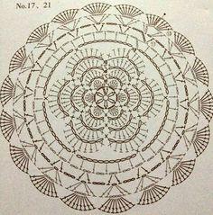 World crochet: Motif 268 This is a motif. Scheme we start from the center of the circle crochet flowerLas mandalas son perDoily-looking circular pieceSome more round motifs Crochet Mat, Crochet Carpet, Crochet Mandala Pattern, Crochet Dollies, Crochet Circles, Crochet Blocks, Crochet Doily Patterns, Crochet Diagram, Crochet Round
