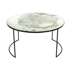 A by Amara - Iridescent Glass Round Table - Coffee Table