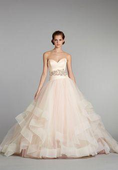 Sherbert tulle bridal ballgown by Lazaro