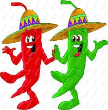 Stretch Dancing Peppers Clipart for your creation. Mexican Food Restaurants, Mexican Food Recipes, Chili Bar, Food Clipart, Chili Cook Off, South Of The Border, Bbq Party, Cold Meals, Cartoon Pics