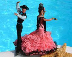 Vintage Spanish Flamenco Dancers Dolls Marin Chiclana Spain via Starfisher - Bonanza