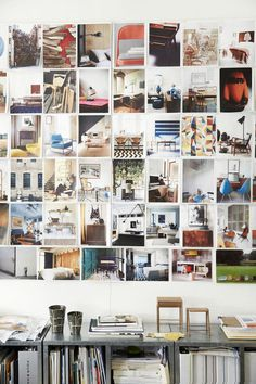 Behind the scenes look at West Elm HQ's Dumbo Offices in Brooklyn, how good is their inspiration wall?! Photo by Julian Wass for thedesignfiles.net