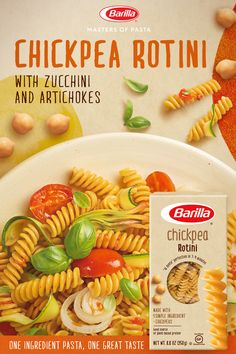 Our new grain-free Chickpea Rotini loves all the veggies. Its the deliciously different vegan pasta recipe youve been waiting for. Give it a twirl you know you want to. Pasta Recipes, Low Carb Recipes, Whole Food Recipes, Diet Recipes, Vegetarian Recipes, Cooking Recipes, Healthy Recipes, Water Recipes, Smoothie Recipes