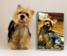 Needle Felted Dog Personalized pet Custom Pet by KNartDesign
