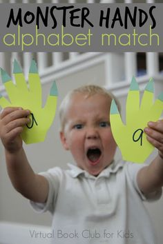 Toddler Approved!: Monster Hands Alphabet Match