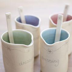 Porcelain Daisy Dressing Jug And Spoon - ceramics