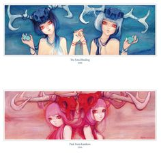 """The Fated Binding/Pink Twin Rainbow; 2009"" Femina and Fauna: The Art of Camilla…"
