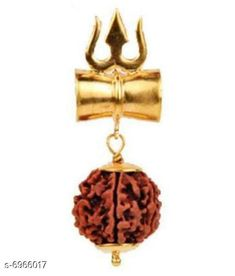 Pendants & Lockets Moksh Shiv Trishul Damaru Locket Rudraksh Base Metal: brass Plating: Gold Plated Stone Type: Rudrakshi Type: Pendant with Chain Multipack: 1 Sizes: Country of Origin: India Sizes Available: Free Size   Catalog Rating: ★4.2 (488)  Catalog Name: Shimmering Charming Pendants & Lockets CatalogID_1112307 C77-SC1095 Code: 511-6966017-995