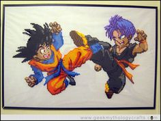 Trunks Goten Perler Sprite by Geek Mythology