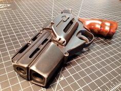 BSG S1 blaster, aka the clamshell blaster