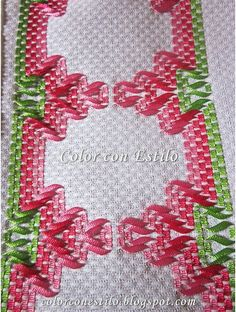 Silk Ribbon Embroidery, Cross Stitch Embroidery, Hand Embroidery, Huck Towels, Swedish Weaving Patterns, Swedish Embroidery, Monks Cloth, Bargello, Cross Stitch Designs