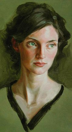 green - woman - portrait - painting - Miles W Mathis Female Portrait, Portrait Art, Woman Portrait, Figure Painting, Painting & Drawing, Romanticism Artists, Pastel Portraits, Social Art, Life Drawing