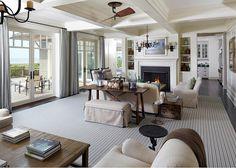 Coastal Living Room. Coastal Living Room Decor. Hampton style living room decor. #LivingRoom #CoastalDecor #CoastalInteriors The Anderson Studio of Architecture & Design.