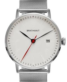 Brathwait Men's 'Automatic Minimalist Wrist Watch', 40mm, Stainless Steel Mesh Strap