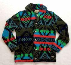 Denim Supply Ralph Lauren Men Southwestern Aztec Indian Tribal Sweater Cardigan…