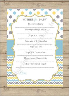 Baby Shower Invitations Baby Shower Book Poem
