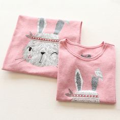 tx-7233 2017 summer Korean version of the new children's clothing girls cartoon Family fitted jacket  Children's T-shirt