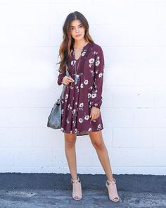 Sweet Soul Dress - Burgundy