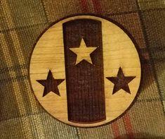 SCA Wood Block Kingdom of Meridies Populace Badge Woodcut for   Etsy