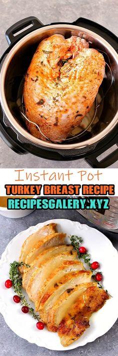 Instant Pot Turkey Breast Recipe >> for complete recipe please click Easy Casserole Recipes, Crockpot Recipes, Cooking Recipes, Pasta Recipes, Instant Pot Pressure Cooker, Pressure Cooker Recipes, Pressure Cooking, Instant Pot Turkey Breast Recipe, Thanksgiving Drinks