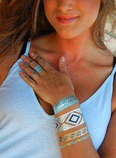 Tribal Jewelry Tribal Bracelet Tribal Temporary by ShimmerTatts