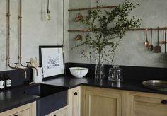 Un plan de travail en granit pour une cuisine de caractère - Des plans de travail pour tous les styles de cuisine - Elle Décoration