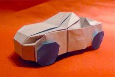 Cool but Hard Origami Origami Car, Origami Videos, Paper Crafts Origami, Oragami, Useful Origami, Cube, Arts And Crafts, Cool Stuff, Kid Stuff