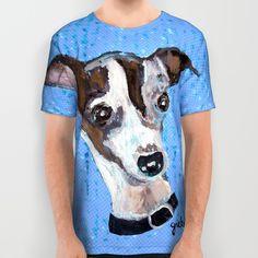 Mia the Italian Greyhound All Over Print Shirt