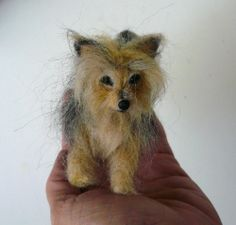 Needlefelted Yorkshire Terrier miniature (custom made from photos)