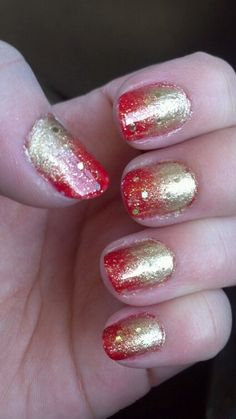 Red and gold #nails. SF 49ers spirit - go Niners!