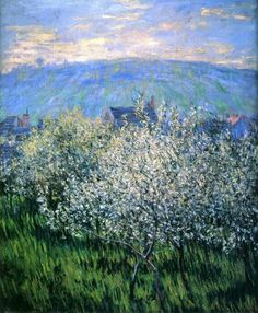 Pruniers en Fleurs  ( Plums Blossom )   -    Claude Monet   1879   French  1840-1926  Oil on canvas