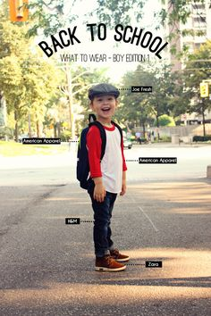 Back To School : what to wear boy edition 1