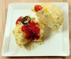 Go Big Or Go Home Corn/Poblano/Queso Muffins via @creativculinary